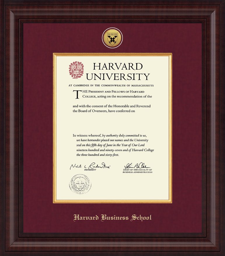 harvard university diploma frame presidential gold engraved diploma frame in premier