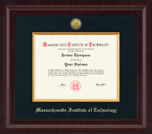 Massachusetts Institute of Technology Diploma Frame - Presidential Gold Engraved Diploma Frame in Premier
