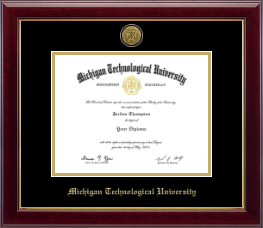 Michigan Technological University Diploma Frame - Gold Engraved Medallion Diploma Frame in Gallery