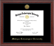 Michigan Technological University Diploma Frame - Gold Engraved Medallion Diploma Frame in Signature