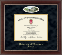 University of Wisconsin Madison Diploma Frame - Campus Cameo Diploma Frame in Chateau