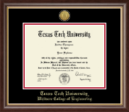 Texas Tech University Diploma Frame - Gold Engraved Medallion Diploma Frame in Hampshire