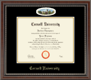 Cornell University Diploma Frame - Campus Cameo Diploma Frame in Chateau
