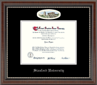 Stanford University Diploma Frame - Campus Cameo Diploma Frame in Chateau
