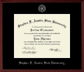 Stephen F. Austin State University Diploma Frame - Silver Embossed Diploma Frame in Camby
