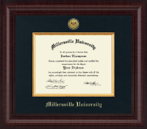 Millersville University of Pennsylvania Diploma Frame - Presidential Gold Engraved Diploma Frame in Premier