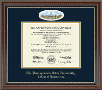 Pennsylvania State University Diploma Frame - Campus Cameo Diploma Frame in Chateau