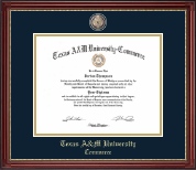 Texas A&M University - Commerce Diploma Frame - Masterpiece Medallion Diploma Frame in Kensington Gold