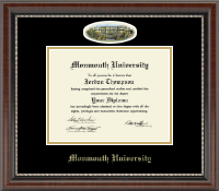 Monmouth University Diploma Frame - Campus Cameo Diploma Frame in Chateau