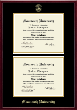 Monmouth University Diploma Frame - Double Diploma Frame in Galleria