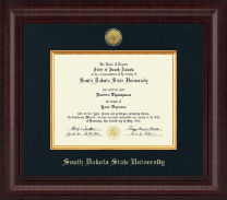 South Dakota State University Diploma Frame - Presidential Gold Engraved Diploma Frame in Premier