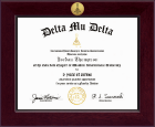 Delta Mu Delta Honor Society Certificate Frame - Century Gold Engraved Certificate Frame in Cordova