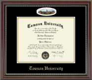 Towson University Diploma Frame - Campus Cameo Diploma Frame in Chateau