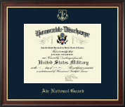 Air Force National Guard Honorable Discharge Certificate Frame