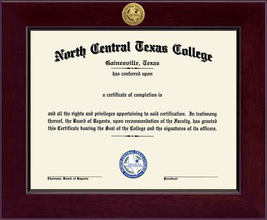North Central Texas College Century Gold Engraved Diploma Frame In Cordova Item 132962 From North Central Texas College