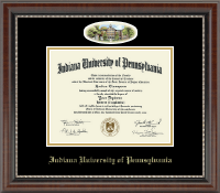 Indiana University of Pennsylvania Diploma Frame - Campus Cameo Diploma Frame in Chateau
