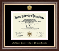 Indiana University of Pennsylvania Diploma Frame - Gold Engraved Medallion Diploma Frame in Hampshire