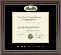 Princeton University Diploma Frame - Campus Cameo Diploma Frame in Chateau