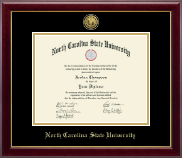 North Carolina State University Diploma Frame - Gold Engraved Medallion Diploma Frame in Gallery
