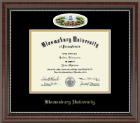 Bloomsburg University Diploma Frame - Campus Cameo Diploma Frame in Chateau