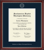 Southwestern Baptist Theological Seminary Diploma Frame - Silver Embossed Diploma Frame in Kensington Silver