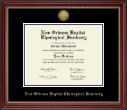 New Orleans Baptist Theological Seminary Diploma Frame - Gold Engraved Medallion Diploma Frame in Kensington Gold