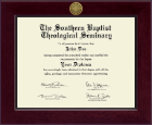 The Southern Baptist Theological Seminary Diploma Frame - Century Gold Engraved Diploma Frame in Cordova