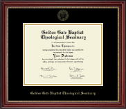 Golden Gate Baptist Theological Seminary Diploma Frame - Gold Embossed Diploma Frame in Kensington Gold