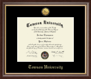 Towson University Diploma Frame - Gold Engraved Medallion Diploma Frame in Hampshire