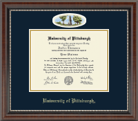University of Pittsburgh Diploma Frame - Campus Cameo Diploma Frame in Chateau