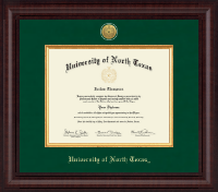 University of North Texas Diploma Frame - Presidential Gold Engraved Diploma Frame in Premier
