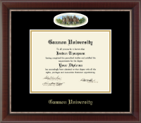 Gannon University Diploma Frame - Campus Cameo Diploma Frame in Chateau