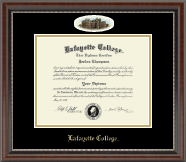 Lafayette College Diploma Frame - Campus Cameo Diploma Frame in Chateau