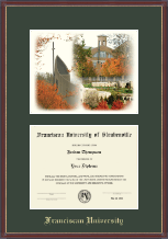 Franciscan University of Steubenville Diploma Frame - Lithograph Diploma Frame in Kensit Gold