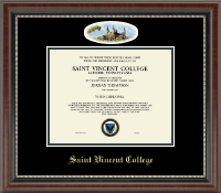 Saint Vincent College Diploma Frame - Campus Cameo Diploma Frame in Chateau
