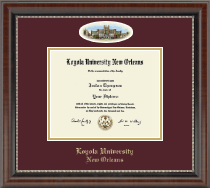 Loyola University New Orleans Diploma Frame - Campus Cameo Diploma Frame in Chateau
