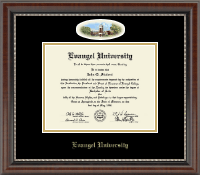 Evangel University Diploma Frame - Campus Cameo Diploma Frame in Chateau