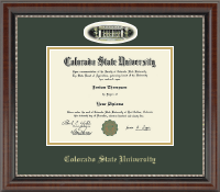 Colorado State University Diploma Frame - Campus Cameo Diploma Frame in Chateau
