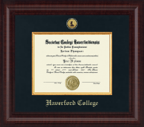 Haverford College Diploma Frame - Presidential Gold Engraved Diploma Frame in Premier