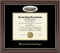 Haverford College Diploma Frame - Campus Cameo Diploma Frame in Chateau