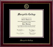 Maryville College Diploma Frame - Gold Embossed Diploma Frame in Gallery
