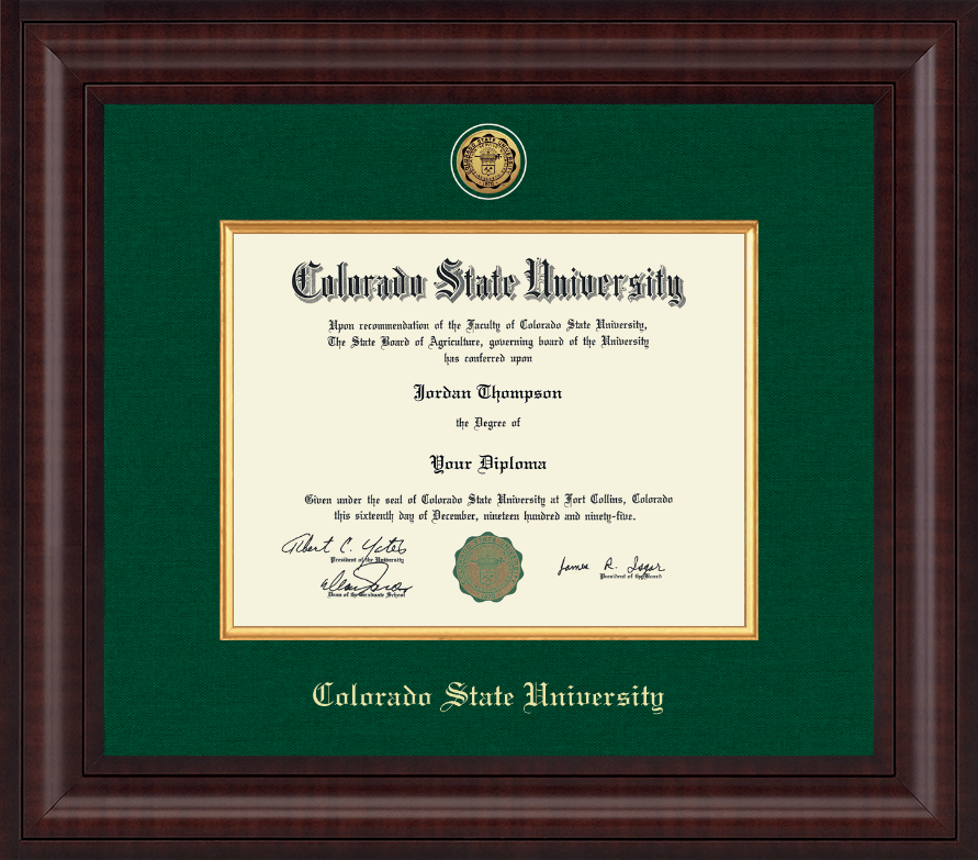 Colorado State University Presidential Gold Engraved