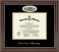 University of Wyoming Diploma Frame - Campus Cameo Diploma Frame in Chateau