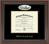 Muhlenberg College Diploma Frame - Campus Cameo Diploma Frame in Chateau