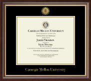 Carnegie Mellon University Diploma Frame - Gold Engraved Medallion Diploma Frame in Hampshire