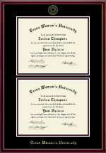 Texas Woman's University Diploma Frame - Double Diploma Frame in Galleria