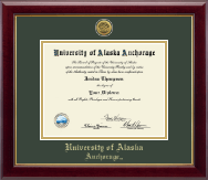 University of Alaska Anchorage Diploma Frame - Gold Engraved Medallion Diploma Frame in Gallery