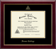 Doane College Diploma Frame - Gold Embossed Diploma Frame in Gallery