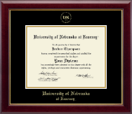 University of Nebraska Kearney Diploma Frame - Gold Embossed Diploma Frame in Gallery