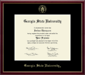 Georgia State University Diploma Frame - Gold Embossed Diploma Frame in Galleria